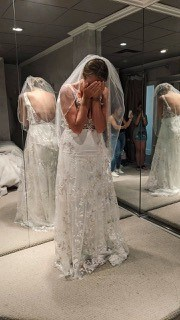 Alex finds the perfect dress at Valencienne Bridal